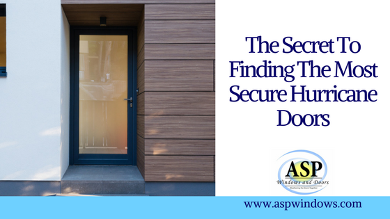 The Secret To Finding The Most Secure Hurricane Doors