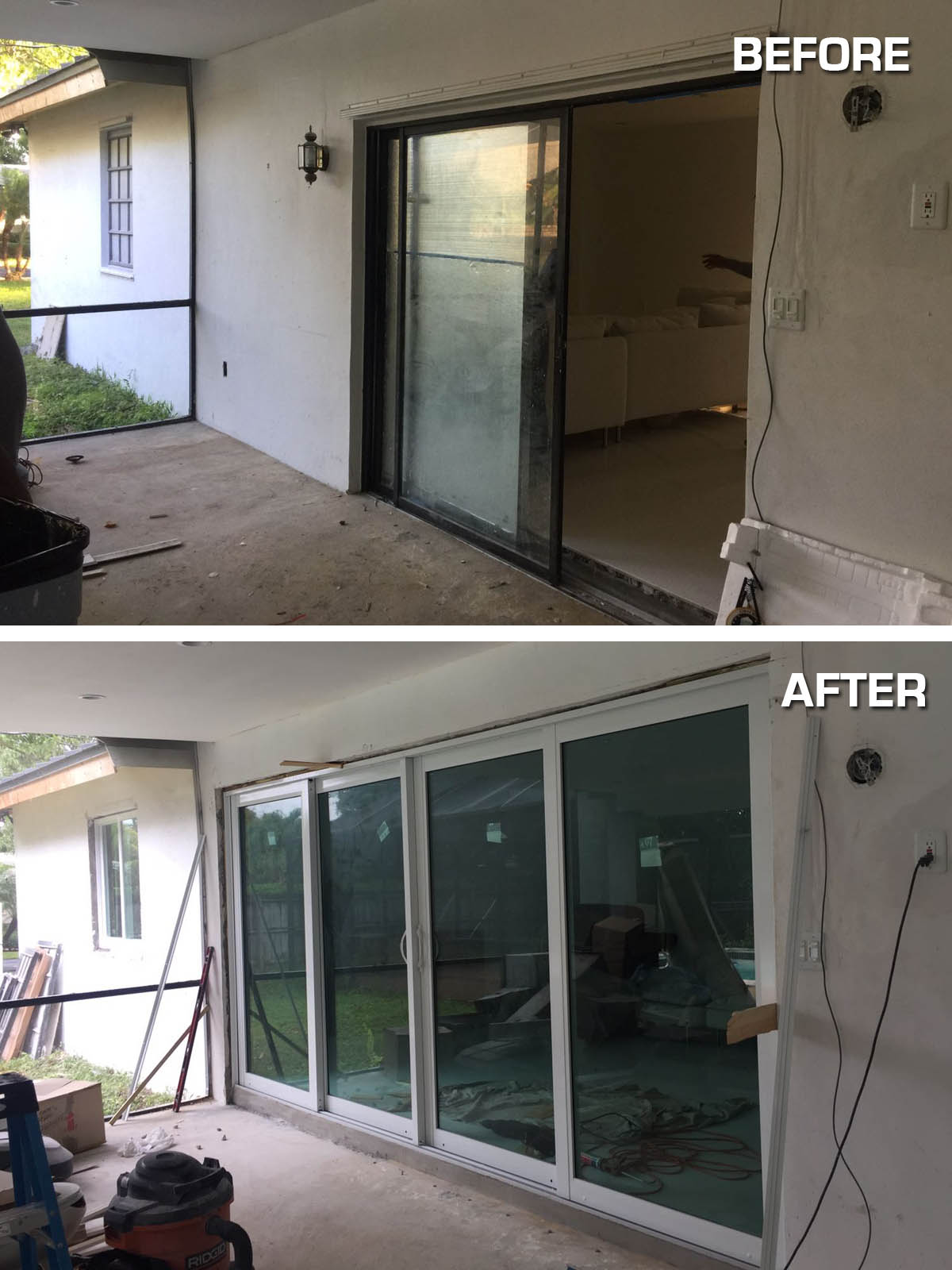 Before And After Photos Hurricane Resistant Patio Doors